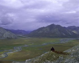 960px-Person_on_rock_above_Arctic_National_Wildlife_Refuge_(8424212949)